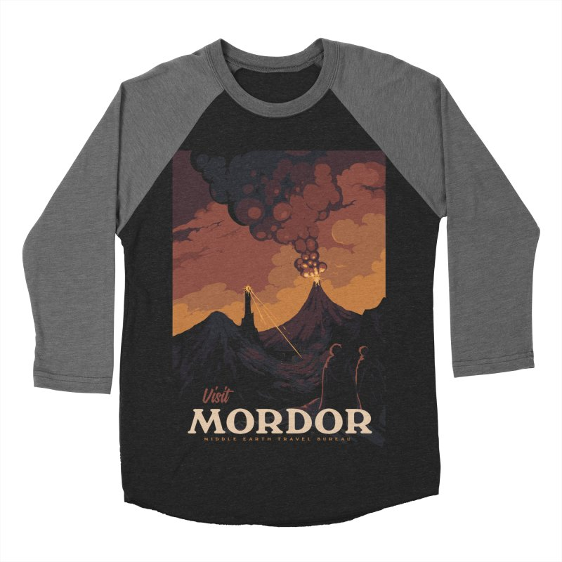 Visit Mordor Men's Baseball Triblend Longsleeve T-Shirt by mathiole