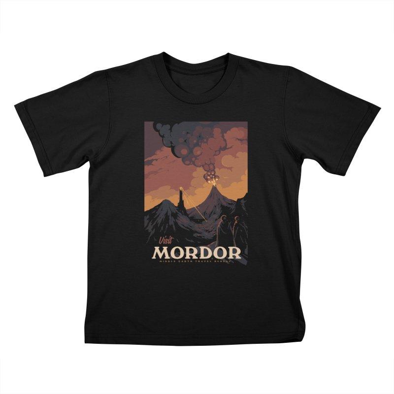 Visit Mordor Kids T-Shirt by mathiole