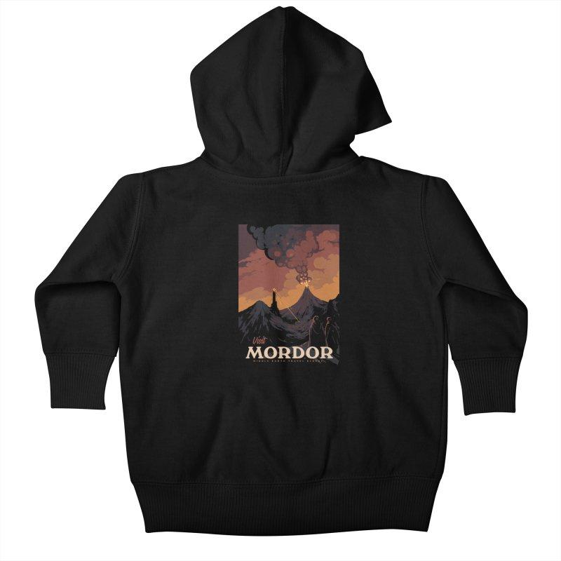Visit Mordor Kids Baby Zip-Up Hoody by mathiole