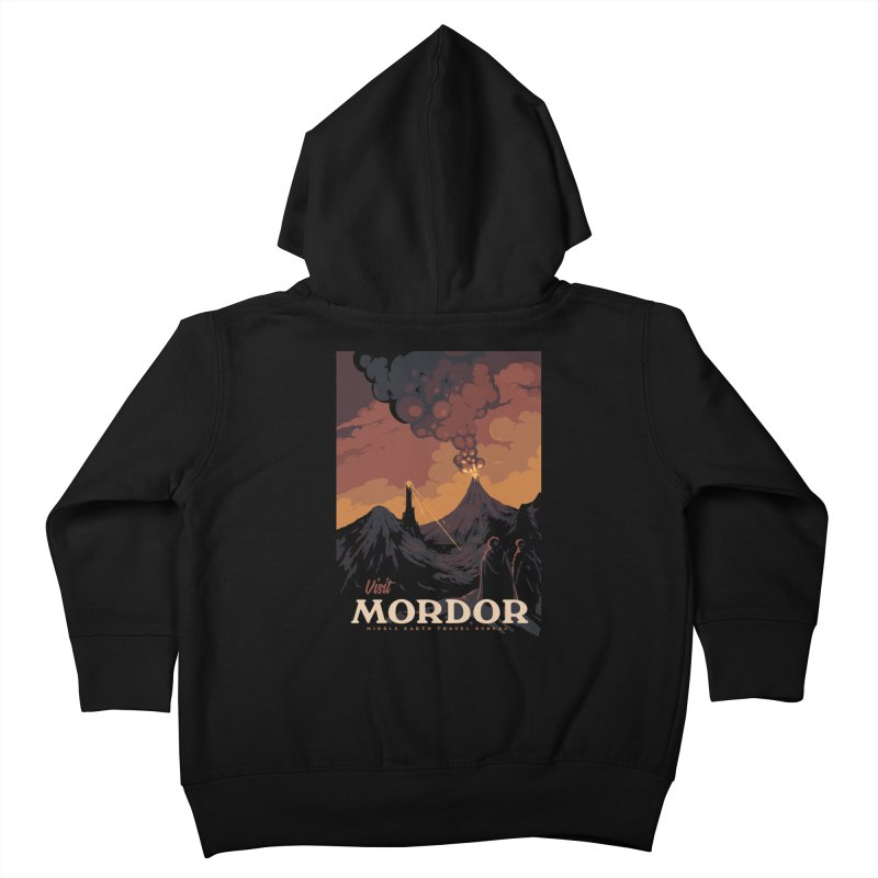 Visit Mordor Kids Toddler Zip-Up Hoody by mathiole