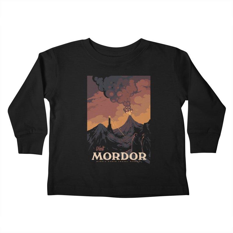 Visit Mordor Kids Toddler Longsleeve T-Shirt by mathiole
