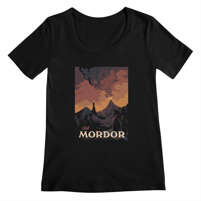 Visit Mordor Women's Scoopneck by mathiole