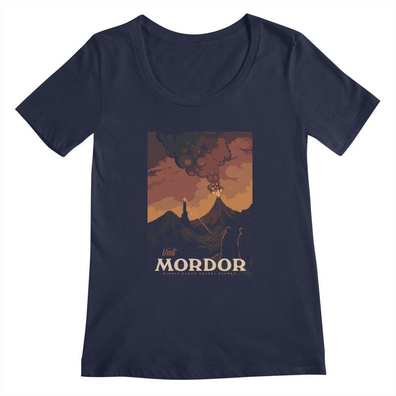 Visit Mordor Women's Regular Scoop Neck by mathiole