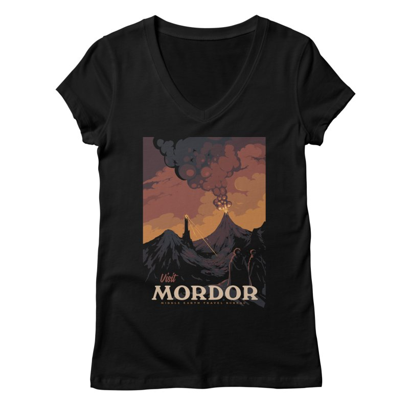 Visit Mordor Women's Regular V-Neck by mathiole