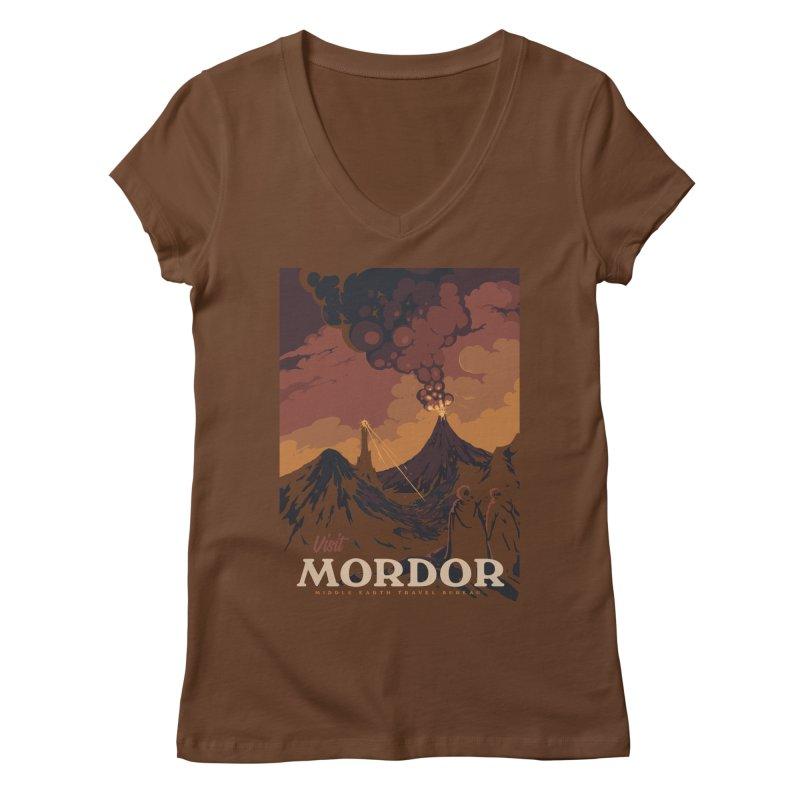 Visit Mordor Women's Regular V-Neck by mathiole