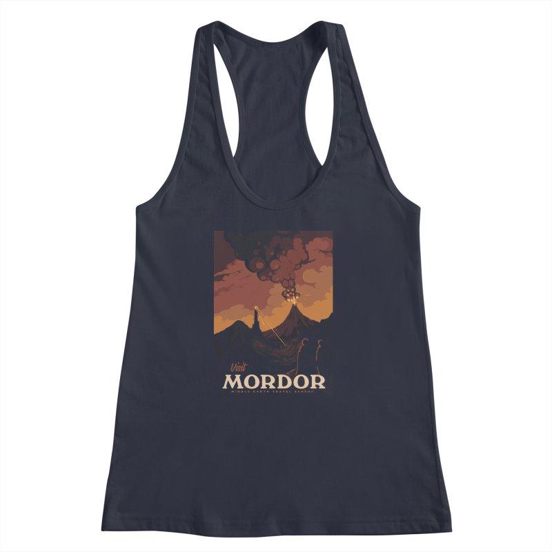 Visit Mordor Women's Racerback Tank by mathiole