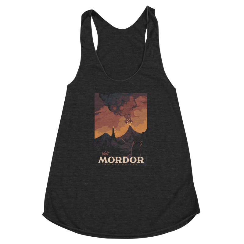 Visit Mordor Women's Racerback Triblend Tank by mathiole