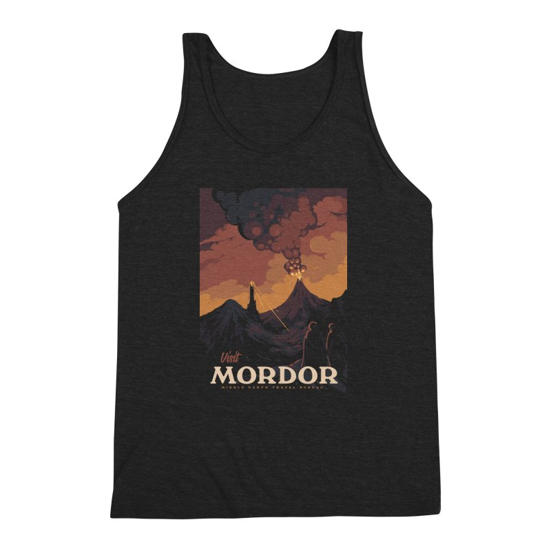 Visit Mordor Men's Triblend Tank by mathiole