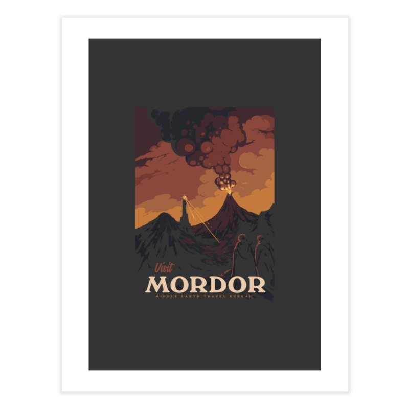 Visit Mordor Home Fine Art Print by mathiole