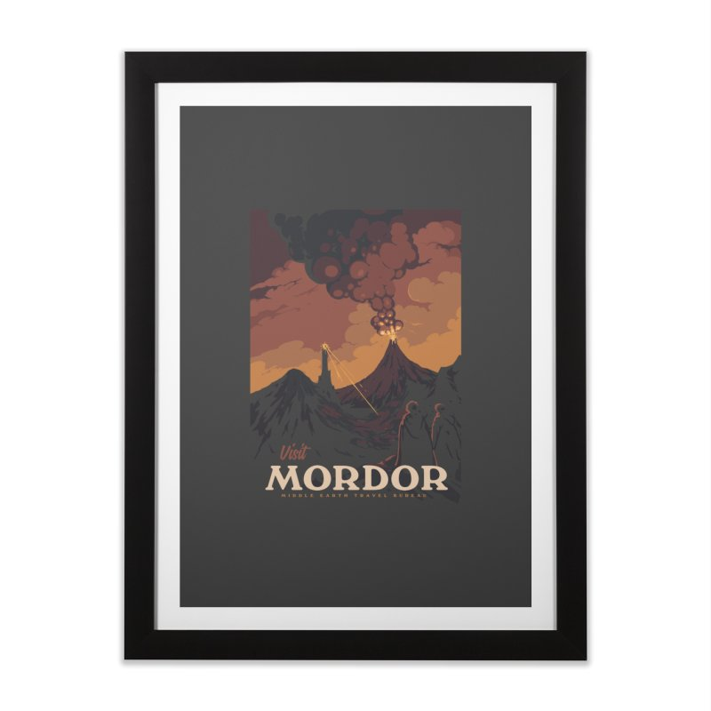 Visit Mordor Home Framed Fine Art Print by mathiole