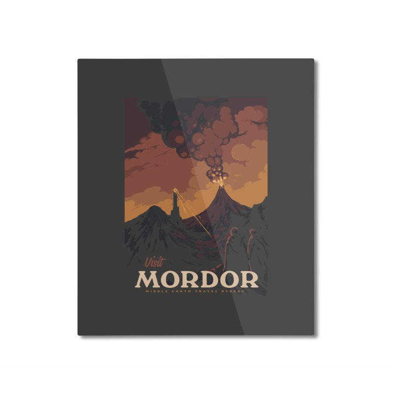 Visit Mordor Home Mounted Aluminum Print by mathiole
