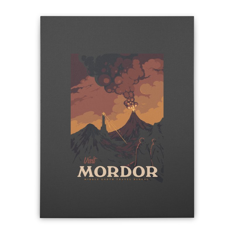 Visit Mordor Home Stretched Canvas by mathiole