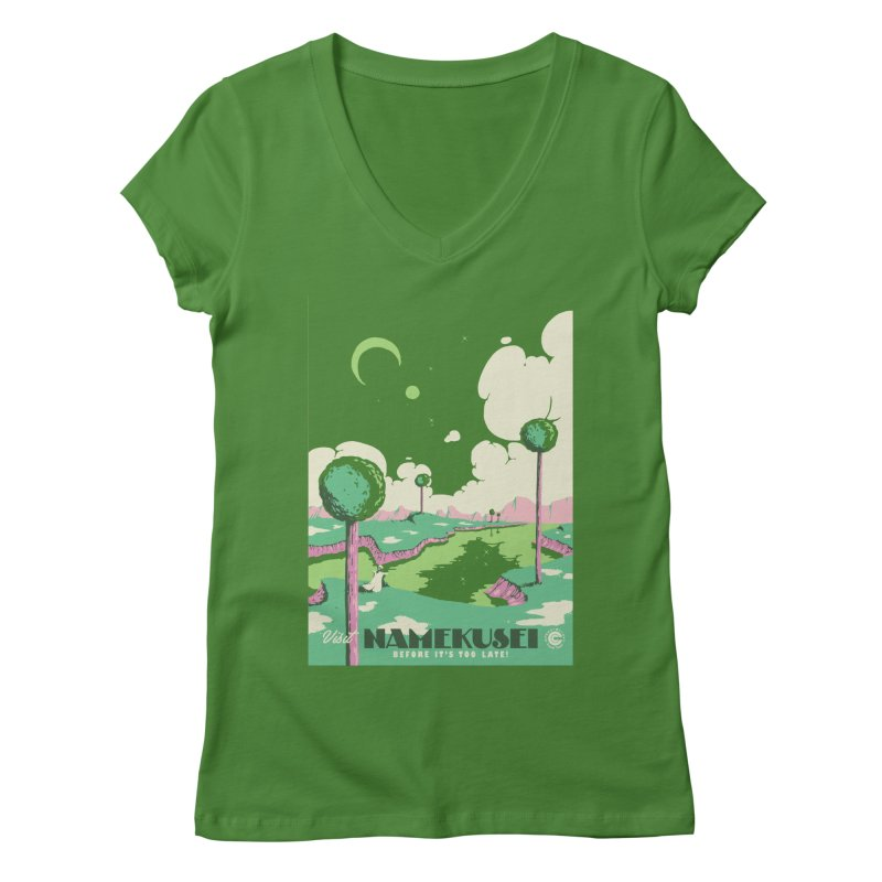 Visit Namekusei Women's Regular V-Neck by mathiole