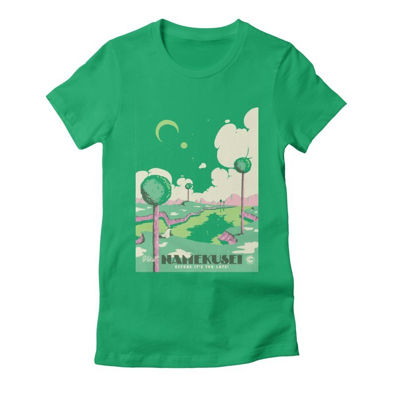 Visit Namekusei Women's Fitted T-Shirt by mathiole