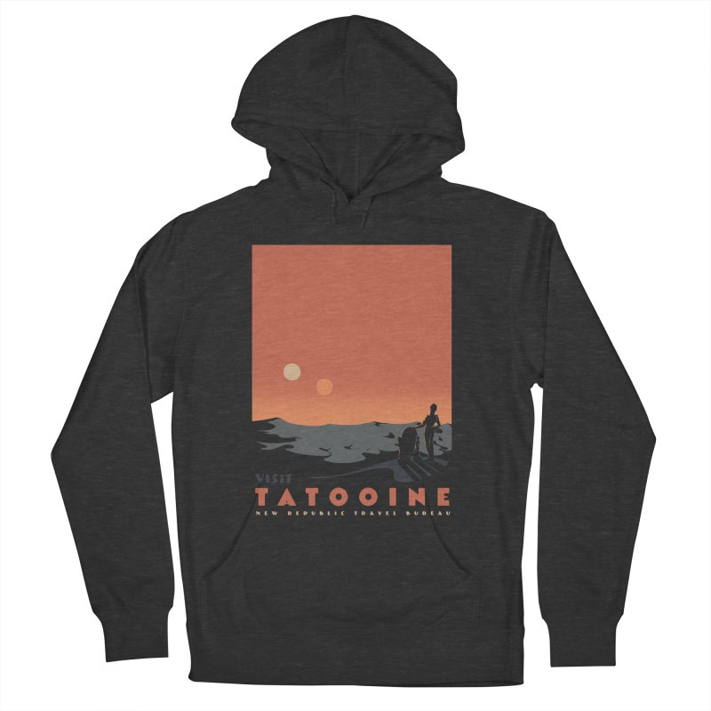 Visit Tatooine Men's French Terry Pullover Hoody by mathiole