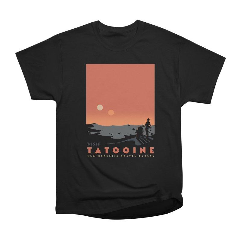 Visit Tatooine Women's Heavyweight Unisex T-Shirt by mathiole