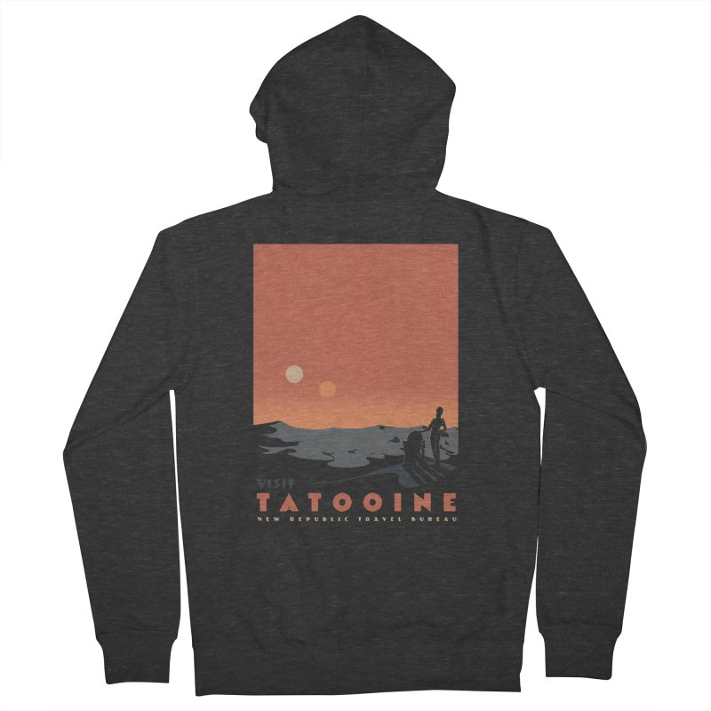 Visit Tatooine Men's French Terry Zip-Up Hoody by mathiole