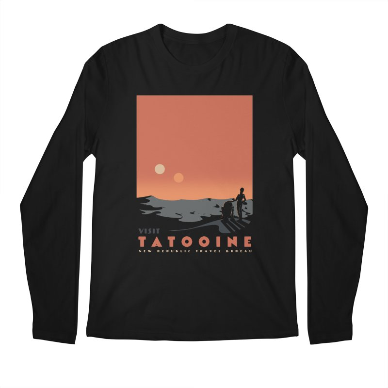 Visit Tatooine Men's Regular Longsleeve T-Shirt by mathiole