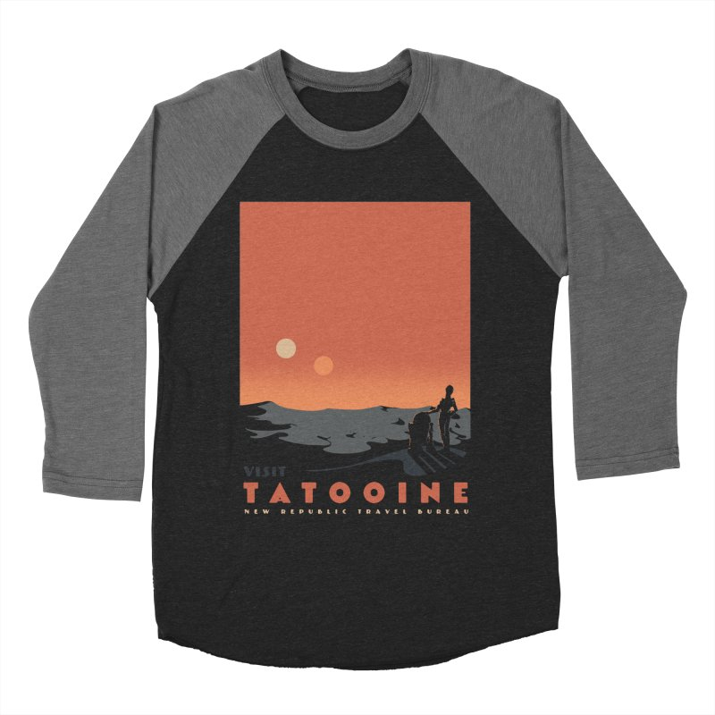 Visit Tatooine Men's Baseball Triblend Longsleeve T-Shirt by mathiole