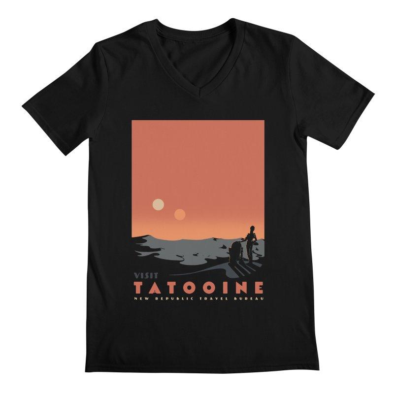 Visit Tatooine Men's Regular V-Neck by mathiole