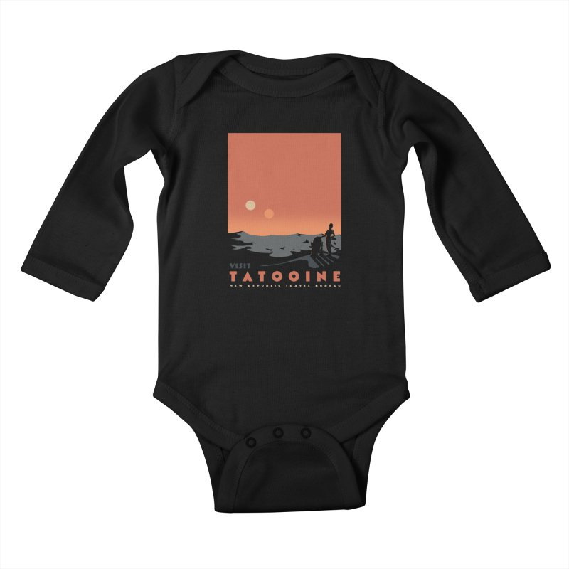 Visit Tatooine Kids Baby Longsleeve Bodysuit by mathiole
