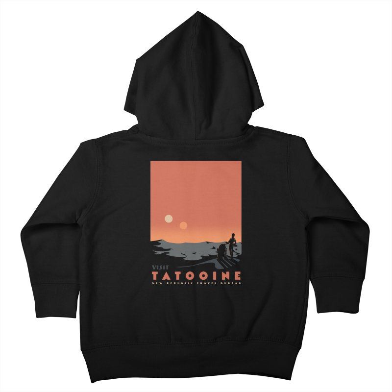 Visit Tatooine Kids Toddler Zip-Up Hoody by mathiole