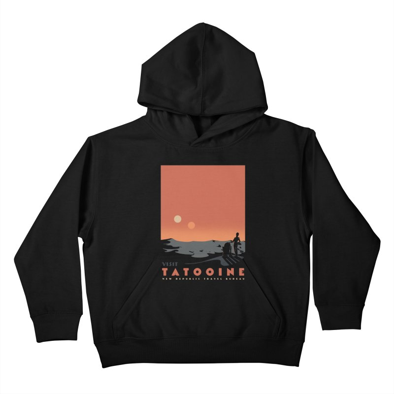 Visit Tatooine Kids Pullover Hoody by mathiole