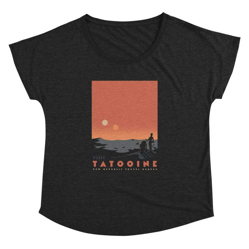 Visit Tatooine Women's Dolman Scoop Neck by mathiole