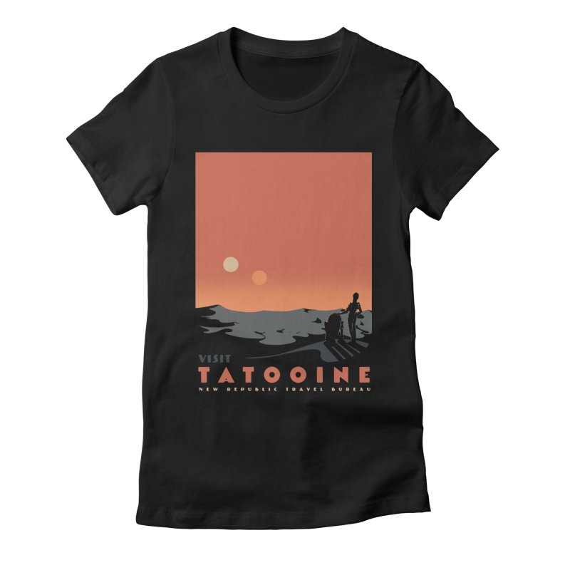 Visit Tatooine Women's Fitted T-Shirt by mathiole