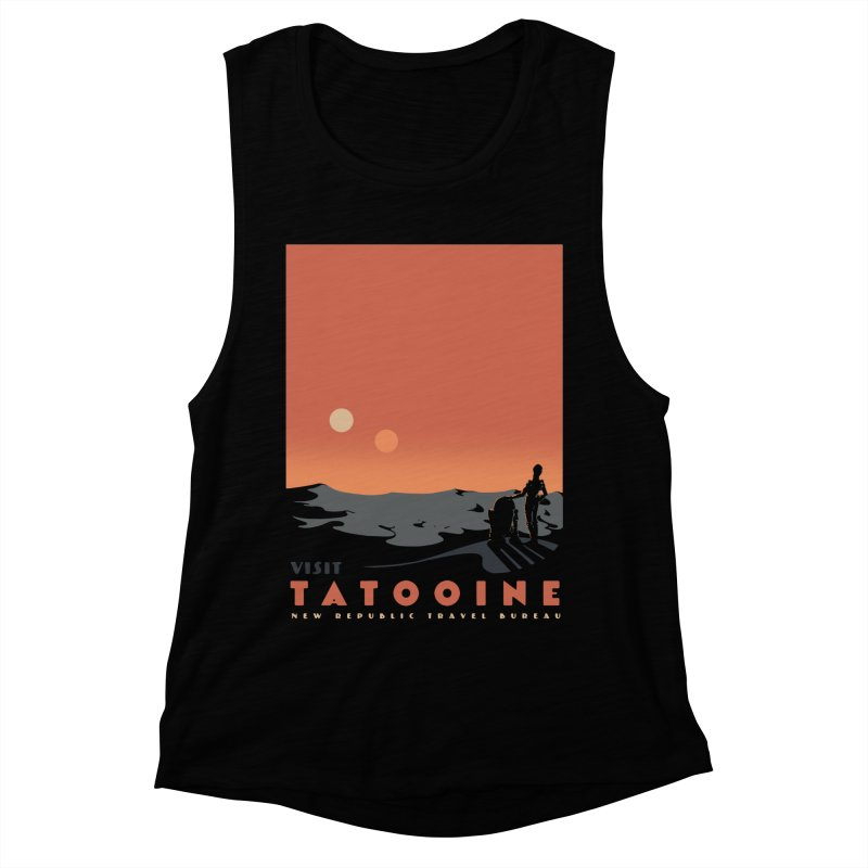 Visit Tatooine Women's Muscle Tank by mathiole