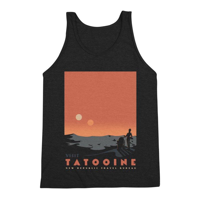 Visit Tatooine Men's Triblend Tank by mathiole