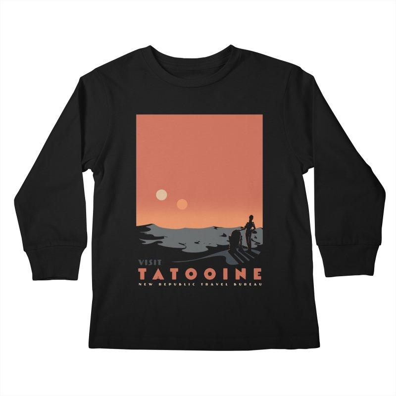Visit Tatooine Kids Longsleeve T-Shirt by mathiole