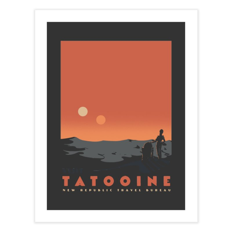Visit Tatooine Home Fine Art Print by mathiole