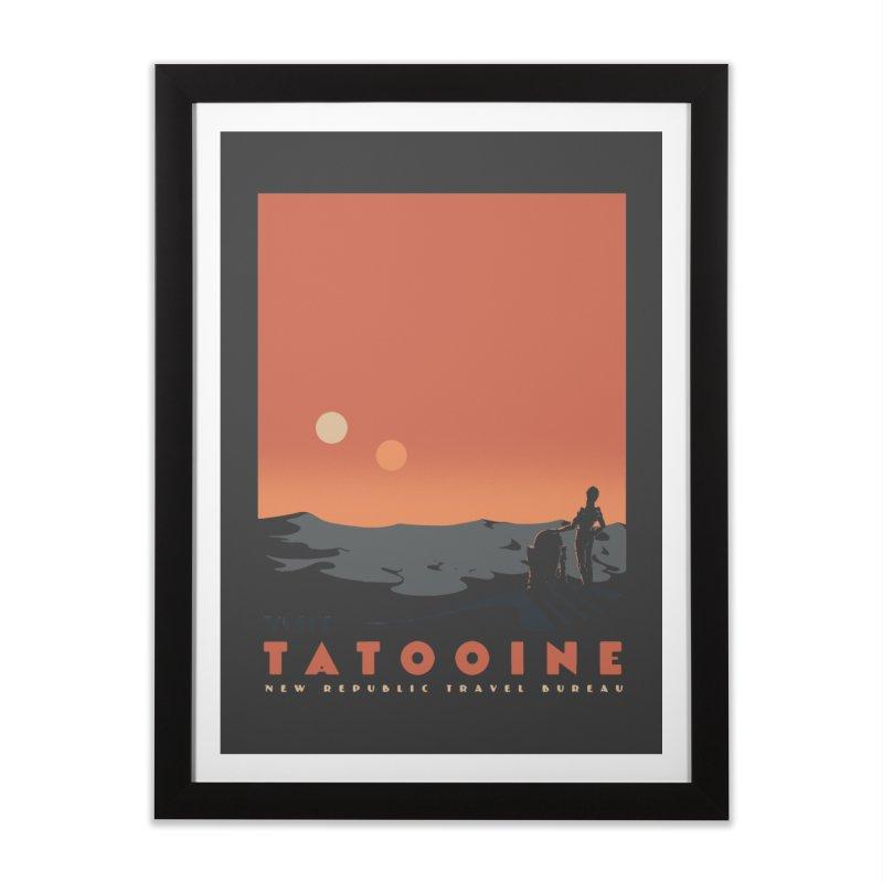 Visit Tatooine Home Framed Fine Art Print by mathiole