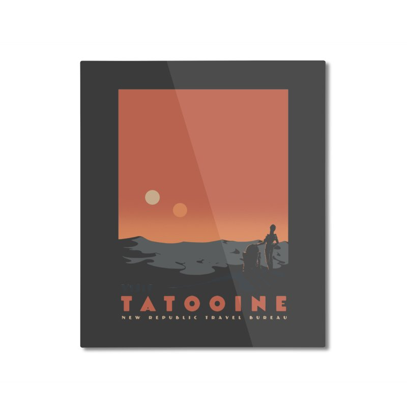 Visit Tatooine Home Mounted Aluminum Print by mathiole