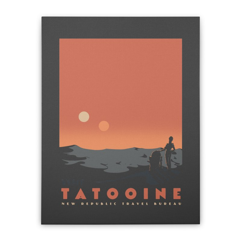 Visit Tatooine Home Stretched Canvas by mathiole