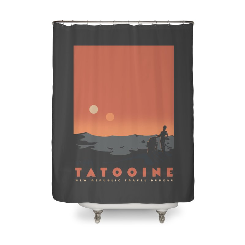 Visit Tatooine Home Shower Curtain by mathiole
