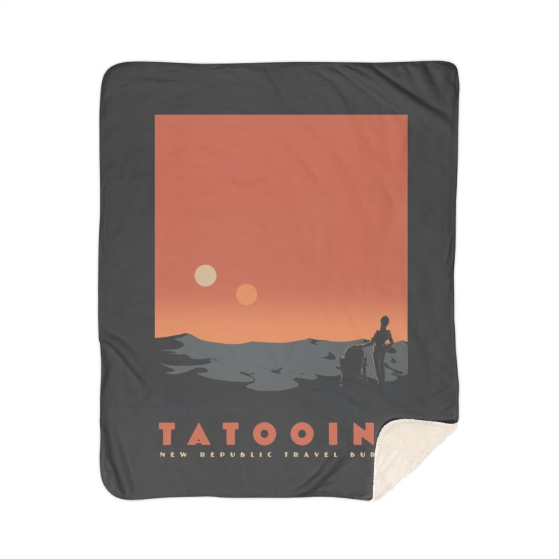 Visit Tatooine Home Sherpa Blanket Blanket by mathiole