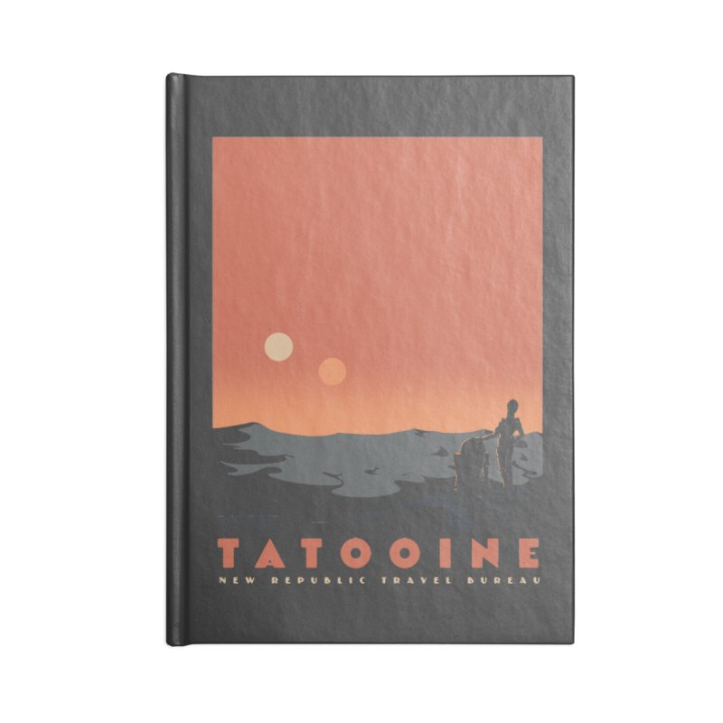 Visit Tatooine Accessories Lined Journal Notebook by mathiole