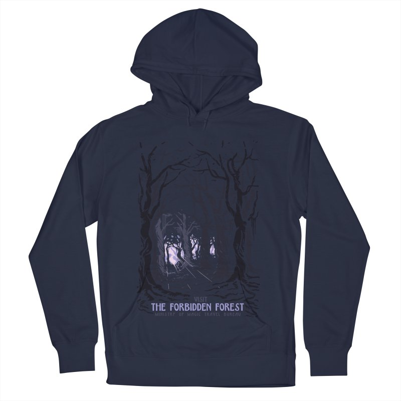 Visit The Forbidden Forest Men's French Terry Pullover Hoody by mathiole