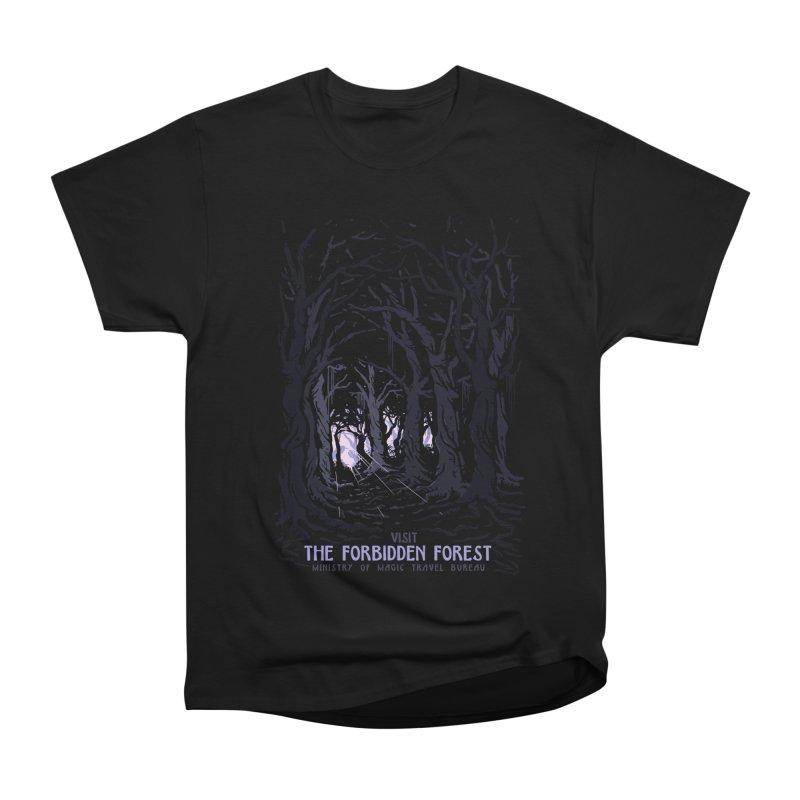 Visit The Forbidden Forest Women's Heavyweight Unisex T-Shirt by mathiole