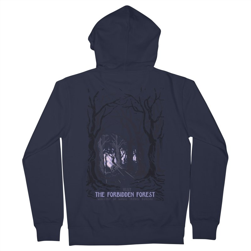 Visit The Forbidden Forest Women's French Terry Zip-Up Hoody by mathiole