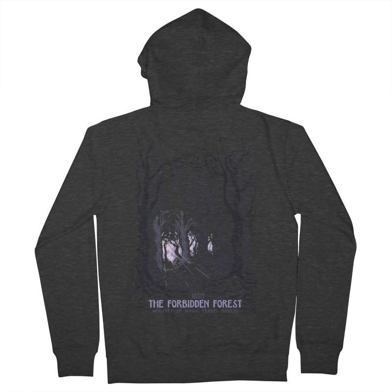 Visit The Forbidden Forest Men's French Terry Zip-Up Hoody by mathiole