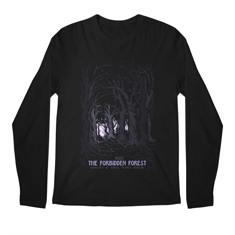 Visit The Forbidden Forest Men's Regular Longsleeve T-Shirt by mathiole