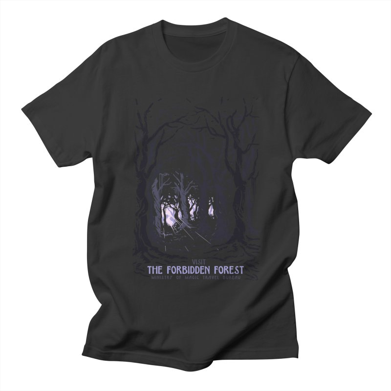 Visit The Forbidden Forest Men's Regular T-Shirt by mathiole
