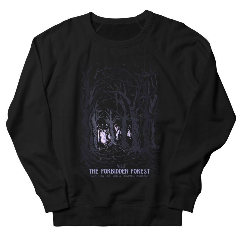 Visit The Forbidden Forest Men's French Terry Sweatshirt by mathiole