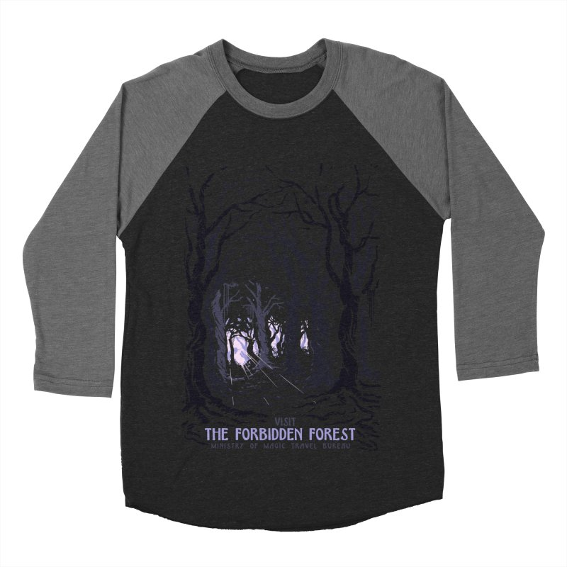Visit The Forbidden Forest Men's Baseball Triblend Longsleeve T-Shirt by mathiole