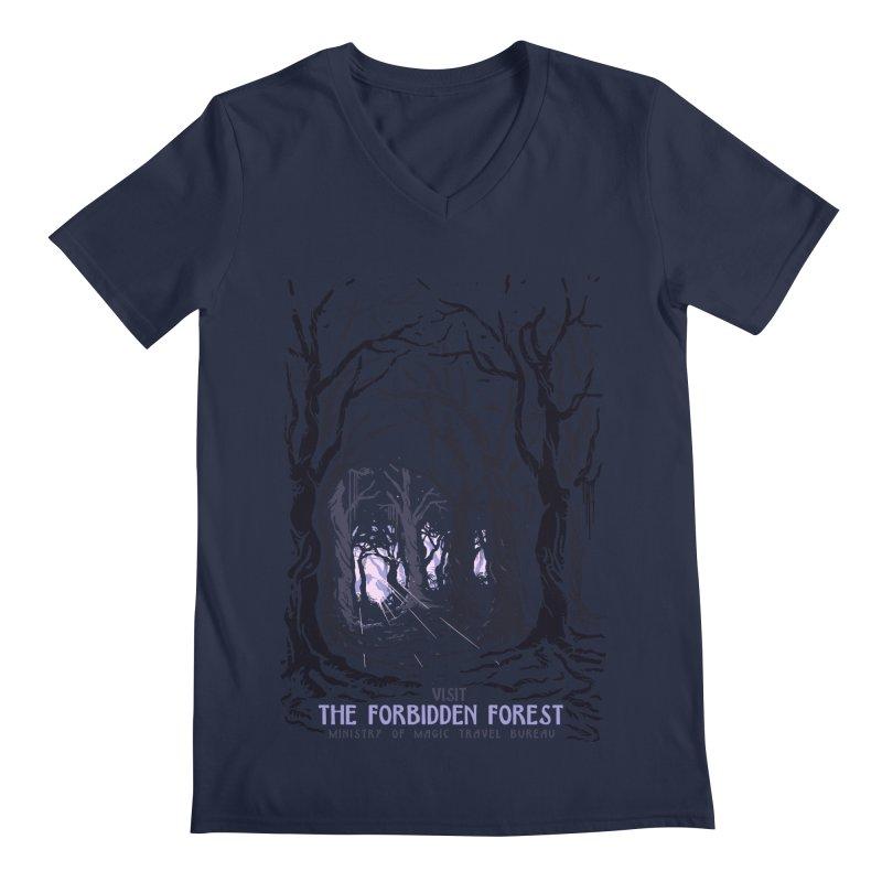 Visit The Forbidden Forest Men's Regular V-Neck by mathiole
