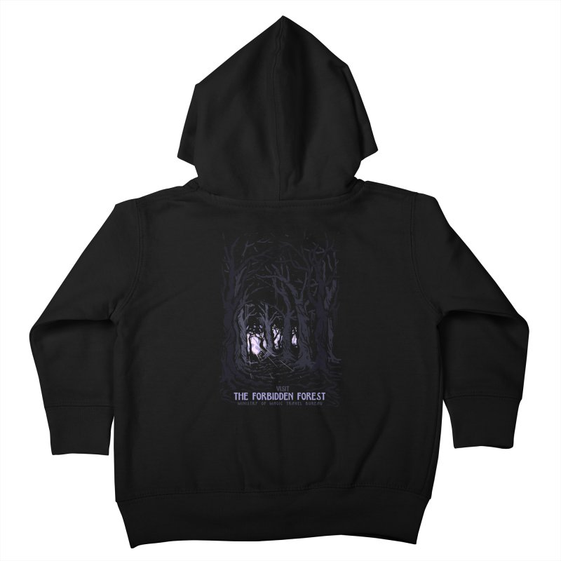 Visit The Forbidden Forest Kids Toddler Zip-Up Hoody by mathiole