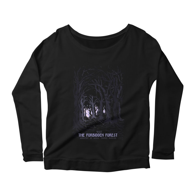 Visit The Forbidden Forest Women's Scoop Neck Longsleeve T-Shirt by mathiole